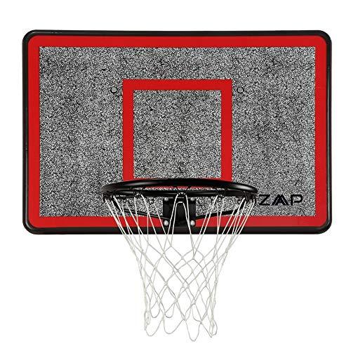 ZAAP Outdoor Wall Mounted Basketball Hoop, Backboard and Net Set