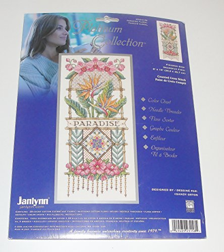 - Paradise Floral Platinum Collection Counted Cross Stitch Kit