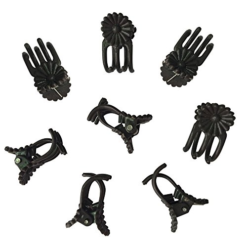 Medium Orchid Clip - KINGLAKE 100Pcs Orchid Clips Daisy Garden Flower Plant Support Clips to Keep Plant Neat and Healthy,Coffee(95200)