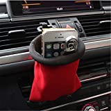 Gold Happy Car Organizer Air Vent Phone Holder Pocket Car Debris Storage Bag Auto Organizer Storage Pocket for Phones, Keys Coins
