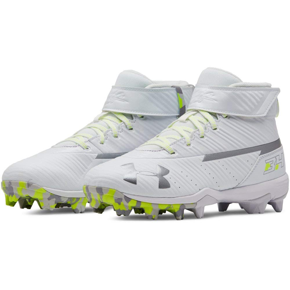 Under Armour Boys' Harper 3 Mid Jr. RM Baseball Shoe 100/White, 1 by Under Armour (Image #10)