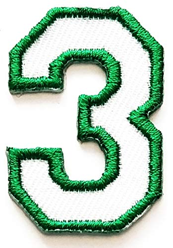 (Green Number 3 Patch Number three counting logo 0-9 Number Patches Uniform Logo for Clothes Backpacks T-Shirt Jeans Skirt Vests Scarf Hat Bag for Study school student or birthday gift (Green Number 3))