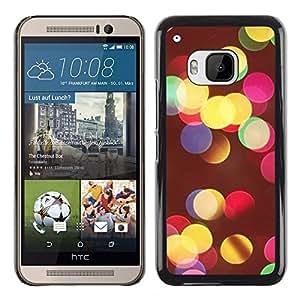 DEMAND-GO Smartphone Rígido Protección única Imagen Carcasa Funda Tapa Skin Cover Case Para HTC One M9 - vivid colors night city blur yellow