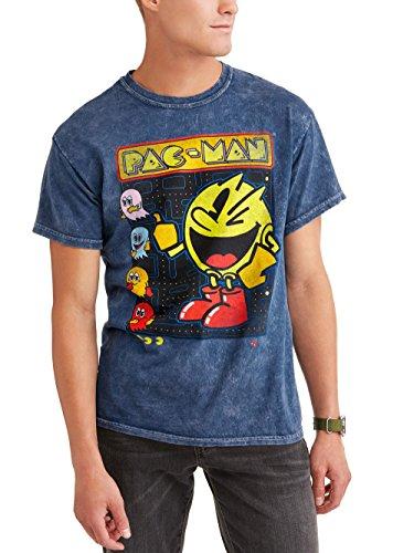 Pac-Man Namco Bandai Men's Crew Neck Graphic Tee, Large