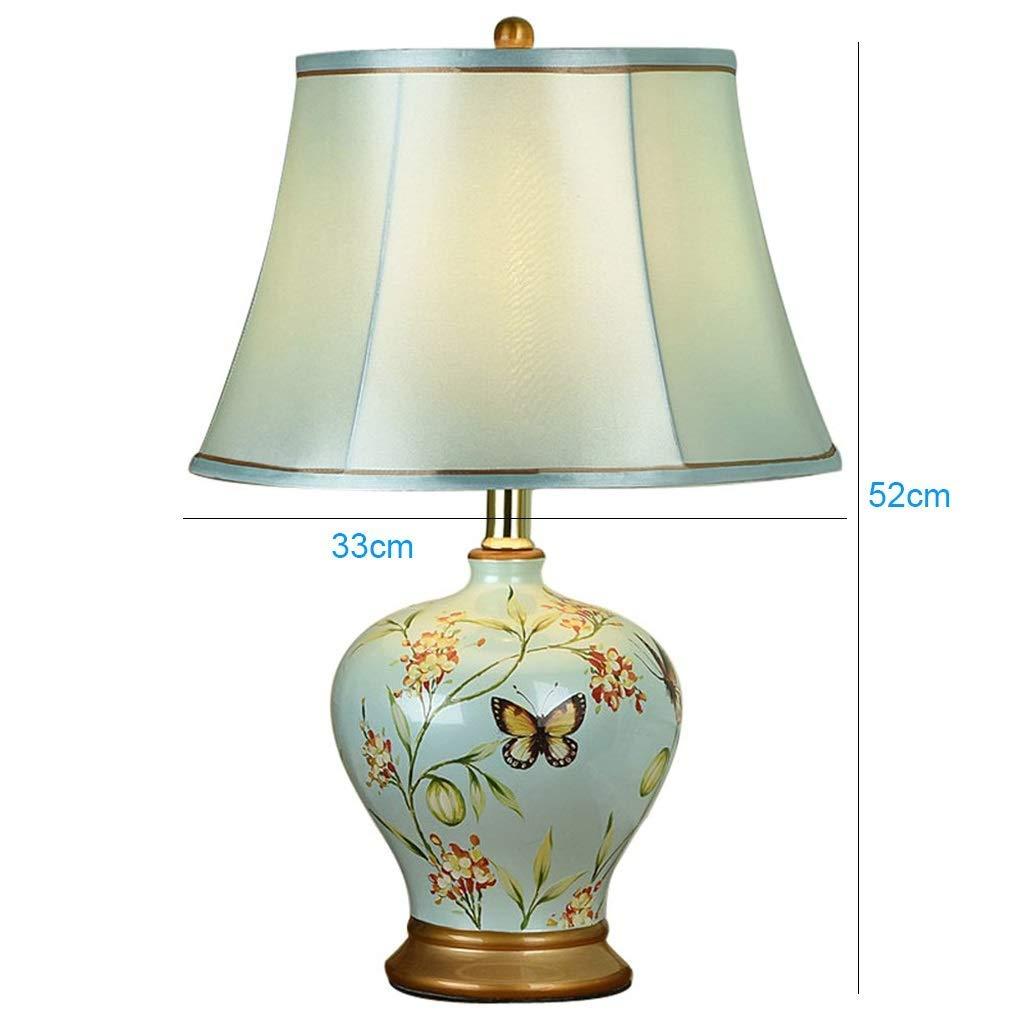 LJ Lamp D/écoration de table Lampes C/éramiques Chinoises Modernes Light Body Cloth Abat-jour E
