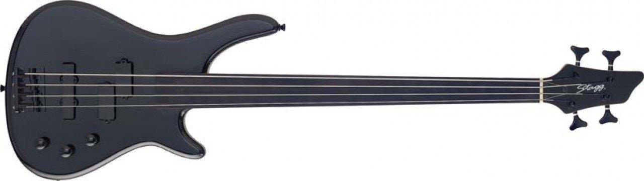 Stagg BC300FL Fretless 4-String Fusion Electric Bass Guitar Black