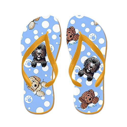 CafePress Pocket Doods - Flip Flops, Funny Thong Sandals, Beach Sandals Orange
