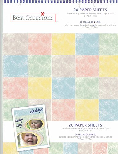 8.5x11 Pastel Parchment Paper Pack 20 Sheets Cardstock Rubber Stampin 65# lb. ()