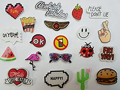 20PC Cartoon Brooch Pins Set Lapel Pin Patch Backpack pins Cool Pins for Jackets