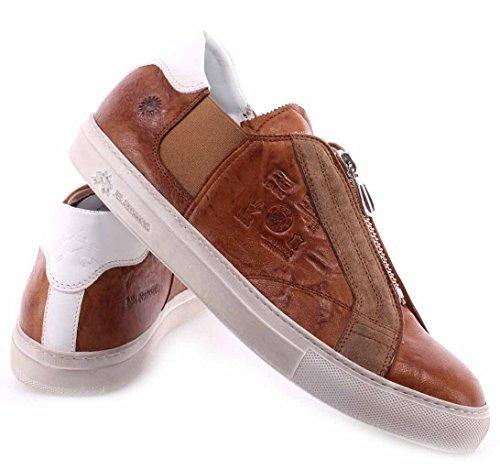 La Martina Herren Sneakers Schuhe L3000121 Plutone Cuoio Cuero Leder Made Italy