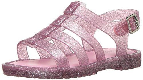 Candy Pink Ballerina - Mini Melissa Girls' Mini Flox Ballet Flat, Pink Candy Glitter, 8 M US Toddler