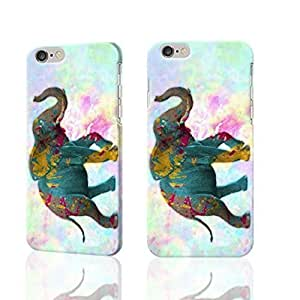 "Elephant With Paint Splatter 3D Rough iphone 6 -4.7 inches Case Skin, fashion design image custom iPhone 6 - 4.7 inches , durable iphone 6 hard 3D case cover for iphone 6 (4.7""), Case New Design By Codystore"