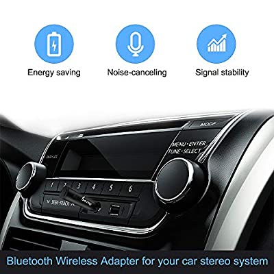 ihens5 Aux Bluetooth Adapter,Mini Wireless Car Bluetooth Receiver Headphone Adapter Handsfree Car Kit BT V4.1 A2DP with Built in Mic 3.5mm Jack for Home Audio Stereo System Headphone Speaker: Car Electronics