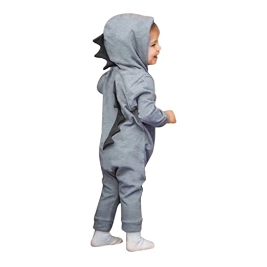 58fee2882 Amazon.com: SMALLE◕‿◕ Clearance,Newborn Infant Baby Boy Girl Dinosaur  Hooded Romper Jumpsuit Outfits Clothes: Clothing