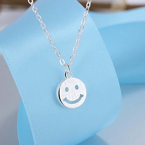 usongs Simple design drawing smiley smile face necklace pendant women girls pop jewelry gift thumbs up