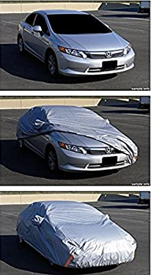 Universal Fit For Luxury Executive Coupe / Sedan / Hatchback Car (Usually Length Of Car Not Exceeding More Than 5300mm)4 LAYER UNIVERSAL WATERPROOF CAR COVER+MIRROR POCKET W/LIFE WARRANTY