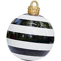 24 Inch Outdoor Christmas PVC Inflatable Decorated Ball, Christmas Inflatables Outdoor Decorations, Giant Christmas…
