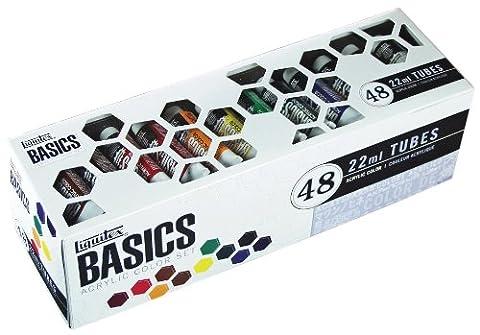 Liquitex BASICS Acrylic Paint Tube 48-Piece Set (Acrylic Golden Paint)