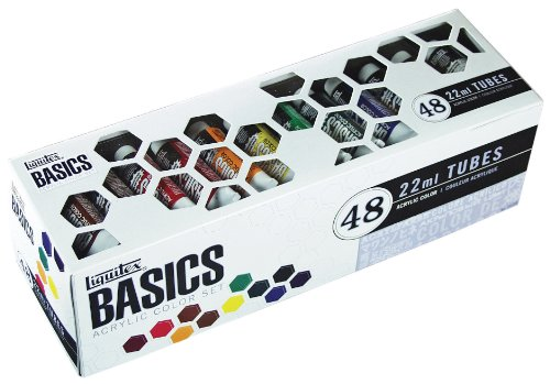 Liquitex Basics 48 Tube Acrylic Paint Set, 22ml, Multicolor