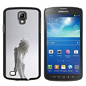 Qstar Arte & diseño plástico duro Fundas Cover Cubre Hard Case Cover para Samsung Galaxy S4 Active i9295 (Mujer Android)