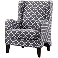 Homelegance Adlai Wingback Modern Accent Chair, Grey
