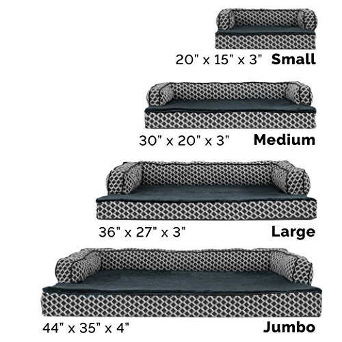 Furhaven Pet Dog Bed | Cooling Gel Memory Foam Orthopedic Plush & Décor Comfy Couch Pet Bed for Dogs & Cats, Diamond Gray, Large by Furhaven Pet (Image #3)