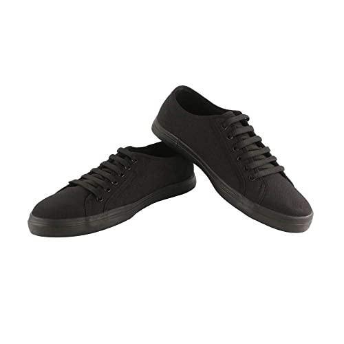 LEEPARKE Stylish Lace Up Casual Canvas Low Top Sneaker Shoes