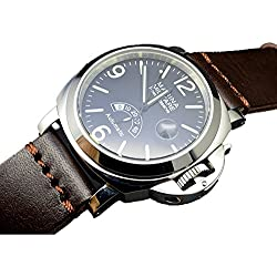 Parnis 44mm Power Reserve automatic mechanical movement Luminous men's Wrist Watch