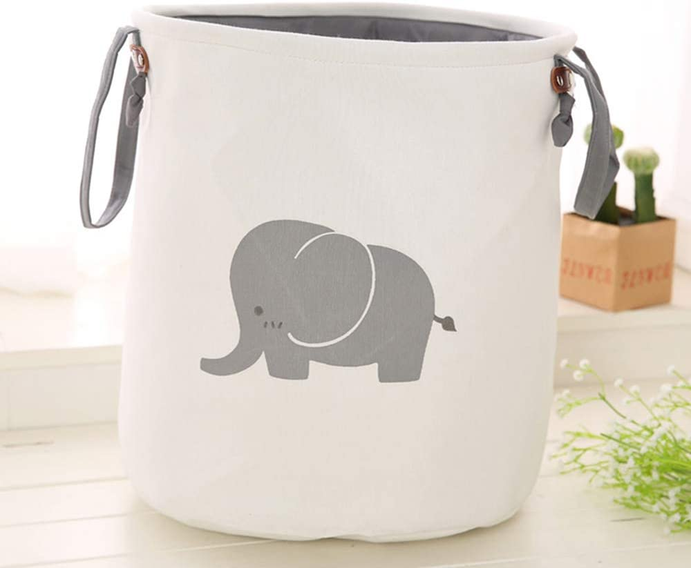 Sxqipeng Dirty Clothes Basket, Storage Bucket, Thickened Cotton Foldable Double Storage Bag Laundry Basket