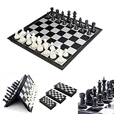 Chess Board Board Game Toys - Portable 2 1 Magnetic Foldable International Chess Checkers Board Games Toy - Circuit Card Bromus Secalinus Room Panel Dining Table Cheat - 1PCs