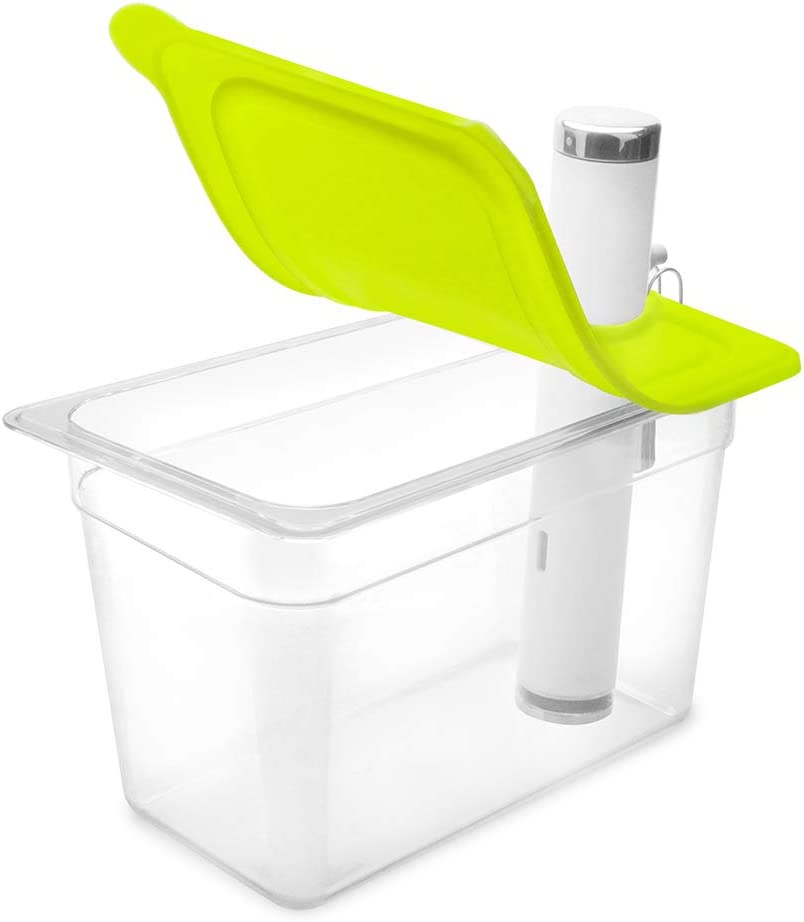 EVERIE Collapsible Silicone Lid Compatible with Chetstels Joule Sous Vide Cooker, Fits Everie Sous Vide Container 7 Quarts, Side Mount