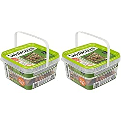 Whimzees 2 Pack of Natural Grain-Free Dental Dog Treats Variety Pack, 14 Large Assorted Treats Per Pack