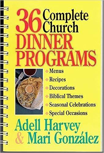 36 Complete Church Dinner Programs: Adell Harvey
