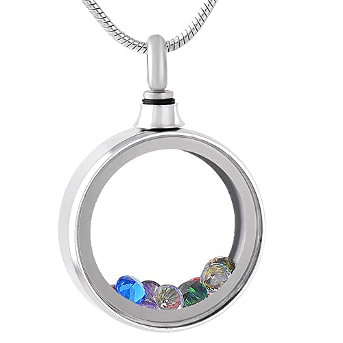 Amazon foreverlove memorial jewelry glass locket cremation foreverlove memorial jewelry glass locket cremation pendant necklace for ashes crystal circle aloadofball Gallery