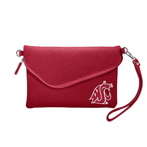NCAA Washington State Cougars Pebble Fold Over Crossbody ()