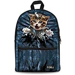 Cat Backpack Cute Cat Backpack for Women Travel School Bag 5d7c8f73cb4ac