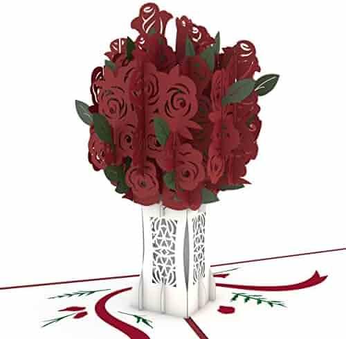 Lovepop Rose Bouquet Pop Up Card, 3D Card, Mother's Day Card, Flower Card, Romance Card