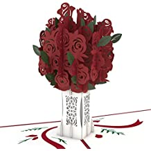 Lovepop Rose Bouquet Pop Up Card, 3D Card, Mother's Day Card, Flower Card, Romance Card