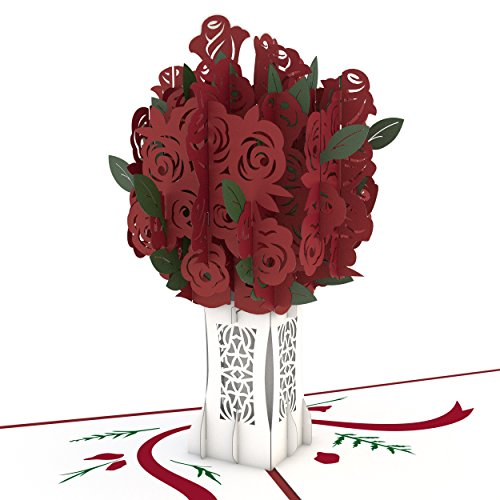 Love Fresh Flowers - Lovepop Rose Bouquet Pop Up Card, 3D Card, Flower Card, Romance Card