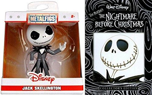 Tim Burton The Nightmare Before Christmas Animated Movie DVD & Disney Jack Skellington Metal Mini Figure 2.5