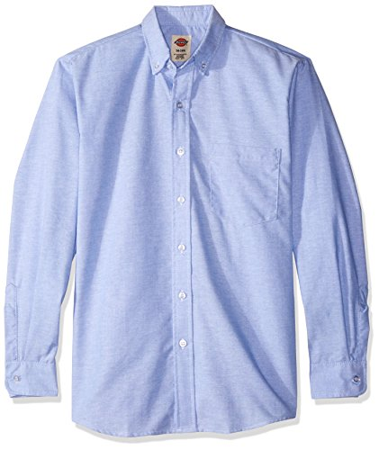 Dickies Long Sleeve Oxford Shirt (Dickies Occupational Workwear SS36LB 145RG Polyester/ Cotton Men's Button-Down Long Sleeve Oxford Shirt, 14-1/ 2