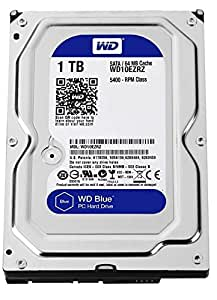 WD Blue 1TB Desktop Hard Disk Drive - SATA 6 Gb/s 64MB Cache 3.5 Inch - WD10EZRZ