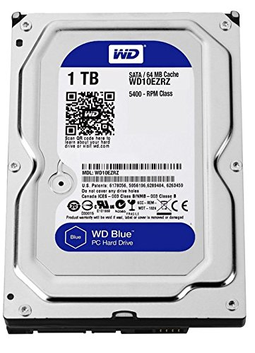Pc Internal Hard Disk (WD Blue 1TB Desktop Hard Disk Drive - SATA 6 Gb/s 64MB Cache 3.5 Inch - WD10EZRZ)