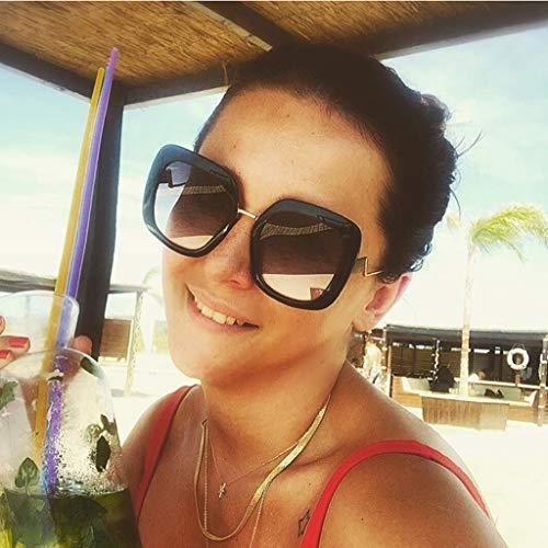 Buy women polarized uv400 sunglasses fashion plaid oversized sunglasses