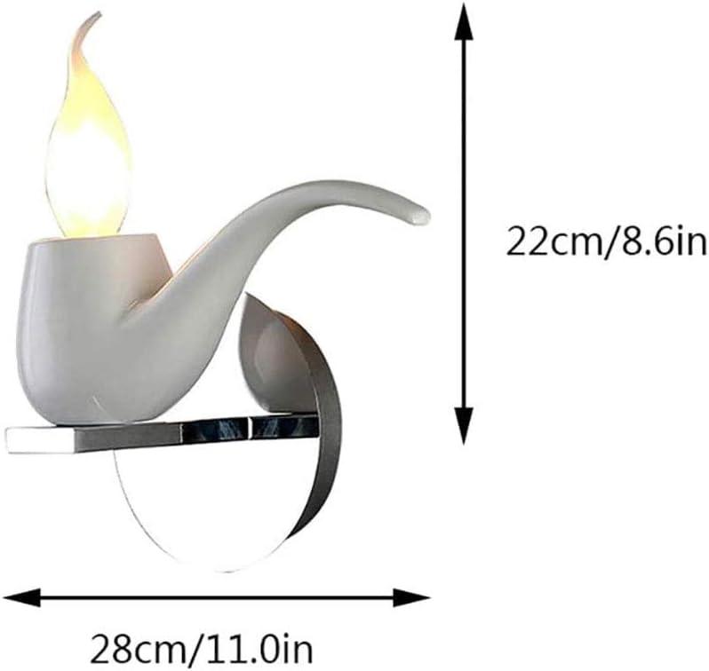 HWJL Rauchpfeifen Moderne Wandleuchte Beleuchtung Resin Pfeifentabak Gilt da Parete E14 Lampe Wandlampenschirm für Küche und Esszimmer Wohnzimmer Bar Deco,Rot White