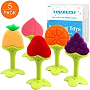 Teething Toys- Tinabless Infant Teething Keys Set, BPA-Free, Natural Organic Freezer Safe for Infants and Todd