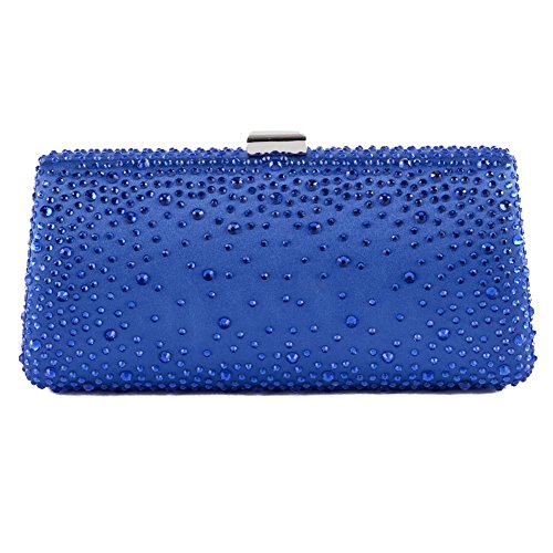 Clutch-tasche, Isa d ' Azur, in satin-stoff