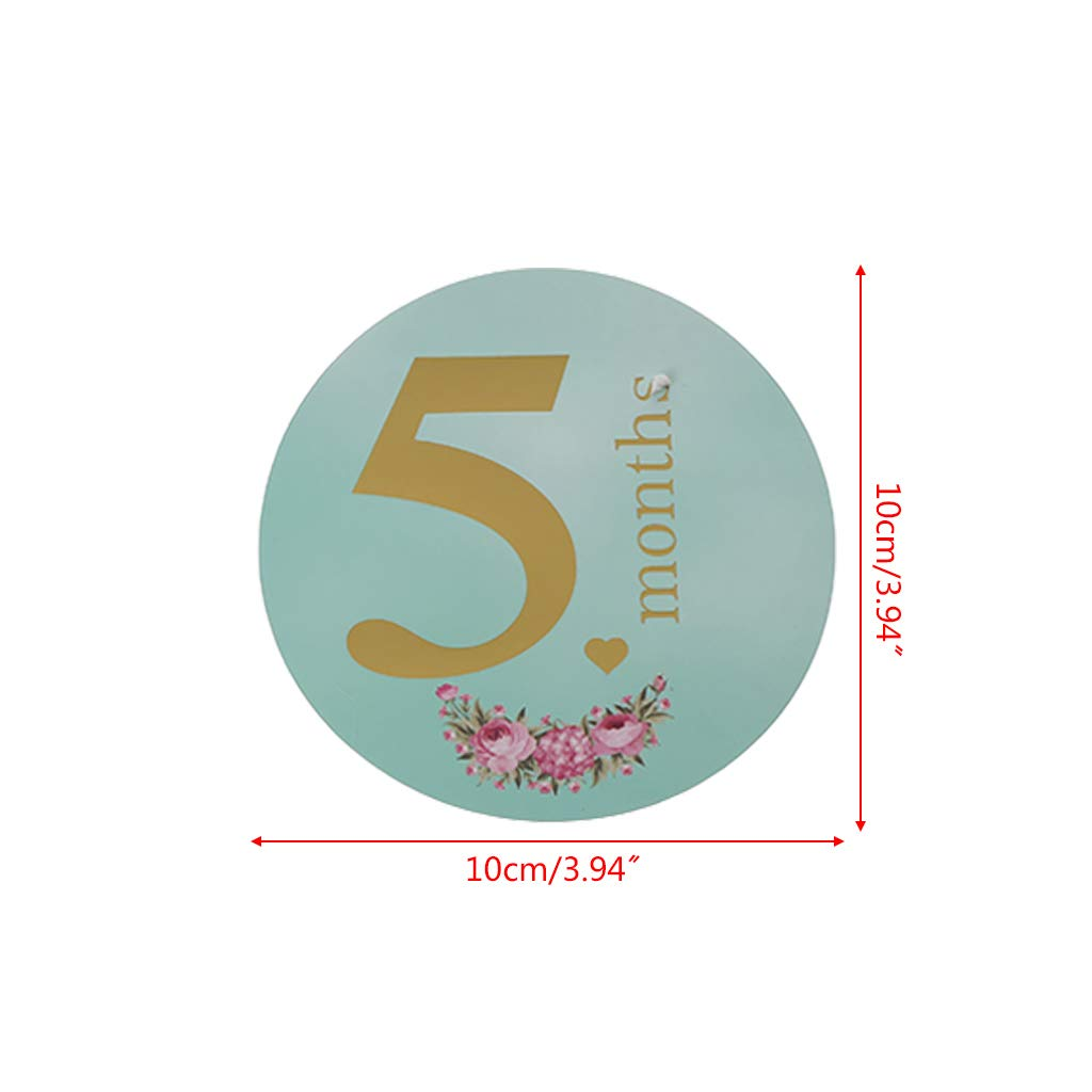 zhangyo 12 Pcs//Set Month Baby Photography Milestone Memorial Monthly Kids Commemorative Card Number Photo Props Accessories