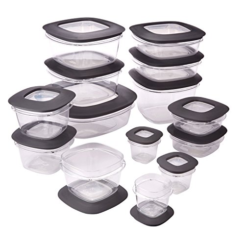 Rubbermaid Rubbermaid Premier Food Storage Containers, 28-Piece Set, Grey (Kitchen Storage Container Set compare prices)