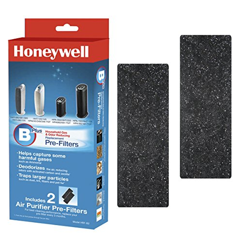 Honeywell HRF-B2 Filter B Household Odor & Gas Reducing Pre-filter, 2 Pack (Air Honeywell Purifier Tabletop)